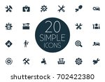 vector illustration set of... | Shutterstock .eps vector #702422380