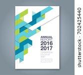 abstract minimal geometric line ... | Shutterstock .eps vector #702425440