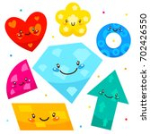cute shapes  arrow  diamond ... | Shutterstock .eps vector #702426550