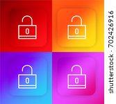 locked four color gradient app...