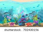 the beauty of underwater life... | Shutterstock .eps vector #702430156