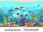 the beauty of underwater life... | Shutterstock .eps vector #702430189