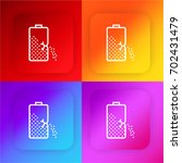 battery four color gradient app ...