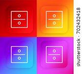 divide four color gradient app...