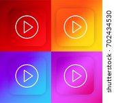 play button four color gradient ...