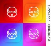 skull four color gradient app... | Shutterstock .eps vector #702442243