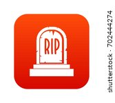 gravestone with rip text icon... | Shutterstock .eps vector #702444274