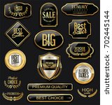 luxury badges and labels with... | Shutterstock .eps vector #702445144