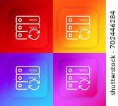 server four color gradient app...