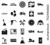 gas station icons set. simple...   Shutterstock .eps vector #702446860
