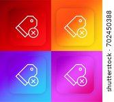 price tag four color gradient...