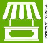 street kiosk icon white... | Shutterstock .eps vector #702451366