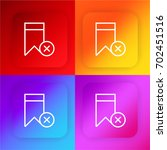 bookmark four color gradient...