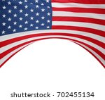 closeup of american flag on... | Shutterstock . vector #702455134
