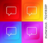 chat four color gradient app...