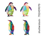 animal low poly logo icon.... | Shutterstock .eps vector #702459070