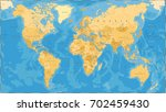 world map political vintage... | Shutterstock .eps vector #702459430