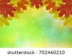 autumn landscape with bright... | Shutterstock . vector #702460210