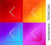 left arrow four color gradient...