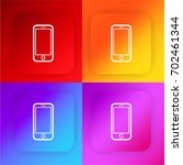 smartphone iphone four color...
