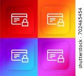 credit card four color gradient ...