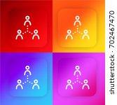 networking four color gradient...