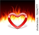 burn heart flame fire valentine'... | Shutterstock .eps vector #70246777