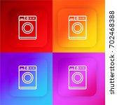 washing machine four color... | Shutterstock .eps vector #702468388