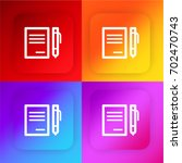 paper four color gradient app...