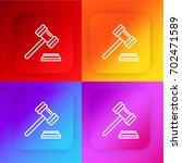 gavel four color gradient app...