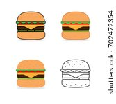 burger. hamburger vector.... | Shutterstock .eps vector #702472354