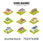 set of school university or... | Shutterstock .eps vector #702476308