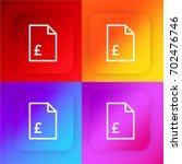 voucher four color gradient app ...