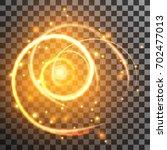 golden light streak with... | Shutterstock .eps vector #702477013