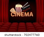 movie premiere poster design....   Shutterstock .eps vector #702477760
