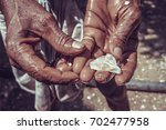 precious raw gem moonstone... | Shutterstock . vector #702477958