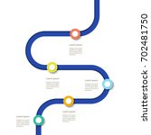 winding line with colorful pin... | Shutterstock .eps vector #702481750