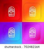 flowers four color gradient app ...