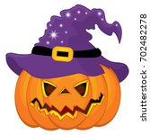 vector halloween pumpkin in... | Shutterstock .eps vector #702482278