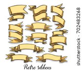 set of vintage ribbon banners.... | Shutterstock .eps vector #702483268