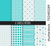 set of eight different... | Shutterstock .eps vector #702483289