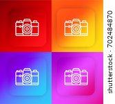 technology four color gradient...