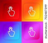 tap button four color gradient...