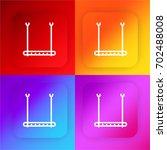 trapeze bar four color gradient ...