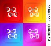 dumbbells four color gradient...
