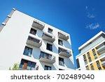 modern  luxury apartment... | Shutterstock . vector #702489040