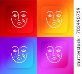retouch four color gradient app ... | Shutterstock .eps vector #702490759