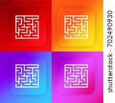 labyrinth four color gradient...