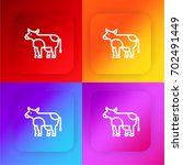 cow four color gradient app... | Shutterstock .eps vector #702491449