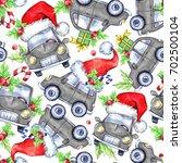 watercolor seamless pattern... | Shutterstock . vector #702500104